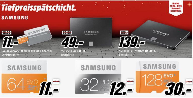 Samsung Media Markt Aktion Samsung 750 EVO 120 GB SSD für 49€   in der Media Markt Samsung Tiefpreisspätschicht