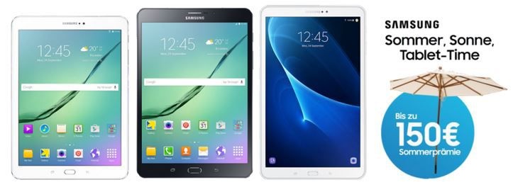 Samsung Sommer Cashback Samsung Galaxy Tab S2 8.0 + 6 GB Vodafone LTE nur 23,37€ mtl.