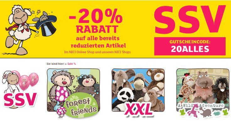 Shaun mit Rabatt NICI Online Shop mit 20% extra Rabatt im Sale   z.B. Shaun das Schaf Tasche für 15€