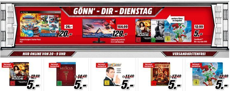 Skylander Angebot SAMSUNG LS24   23.5 Zoll Monitor statt 153€ für 129€ im Media Markt Dienstag Sale