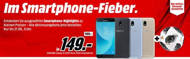 Media Markt Smartphone Fieber + Gratis Adidas Fußball   z.B. HONOR View 10 Dual SIM 128 GB für 379€ (statt 459€)