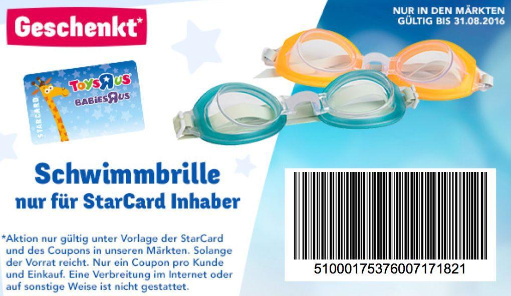 Starcard Brille ToysRus: Kostenlose Schwimmbrille für alle StarCard Inhaber