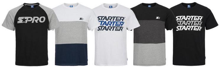 STARTER Herren T Shirts diverse Modelle für je 13,99€