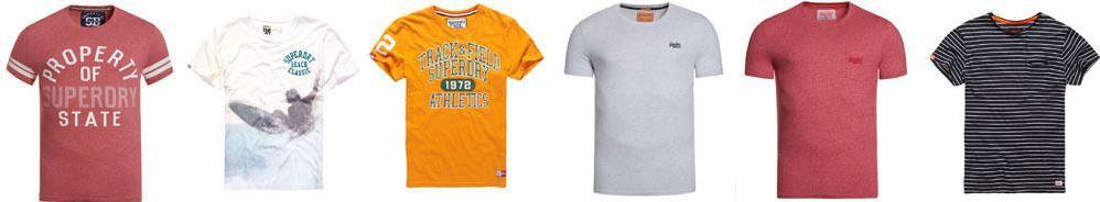 Superdry Herren T Shirts Superdry Herren T Shirts   verschiedene Modelle verfügbar für je 14,95€