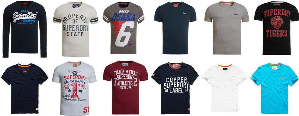 Superdry Shirts Sale Superdry Herren T Shirts   verschiedene Modelle verfügbar für je 14,95€