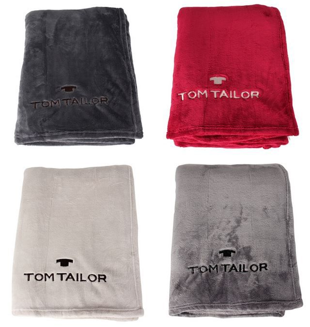 Tom Tailor Super Soft Fleece Decke Tom Tailor Super Soft Fleece Decken (150x200cm) für je 24,95€