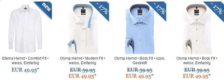 4 Hemden zum Preis von 3 bei Hemden.de   z.B. 4 Seidensticker UNO Hemden ab 83,85€