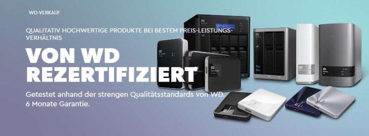Western Digital refurb. Festplatten im Angebot   z.B. My Passport Ultra 2 TB für 59,99€ (statt 93€)