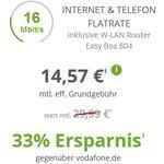 Vodafone DSL mit Festnetzflat schon ab 14,57€ mtl.