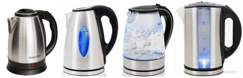 Wasserkocher Edelstahl bis 2200W 1,8L Kabellos 9,90€ bis 19,95€
