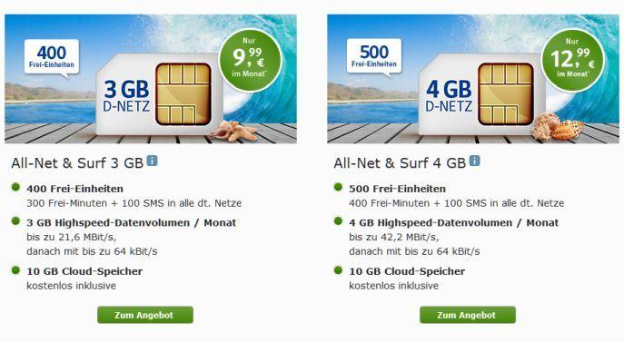 Webde Mobile Angebote 1&1 All Net & Surf Special ab 6,99€/Monat   bis zu 400 Freieinheiten + 4 GB Internet