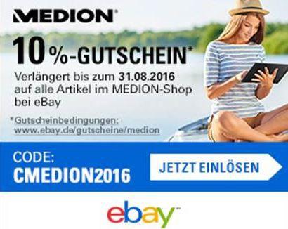 cool 10% Rabatt auf alle Medion Shop Artikel bei eBay   z.B. Microsoft Lumia 535 B Ware für 63€(statt 90€)