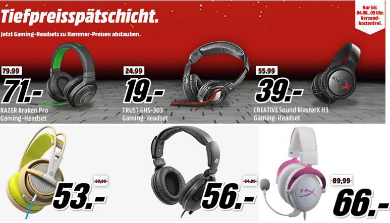 CREATIVE Sound BlasterX H5 ab 77€ in der Media Markt Gaming Headset Tiefpreisspätschicht