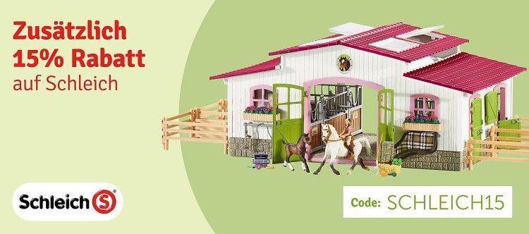 j rabatt schleich code 3 e1483460916384 Schleich Spielzeug Figuren mit 15% Rabatt (MBW 39€)