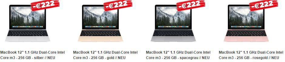 macs MacTrade mit 175€ bzw. 222€ Rabatt beim Kauf von Macbooks und iMacs + 8% Education Rabatt
