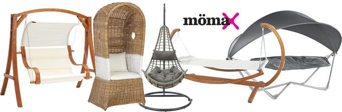 Mömax Gartenmöbel Lagerräumung + 10€ Gutschein + VSK frei bei Mömax   z.B. XXL Gartenstuhl für 35€