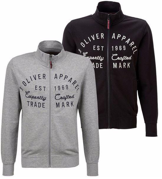 s.Oliver Herren Sweatjacke in grau oder marine für je nur 24,90€
