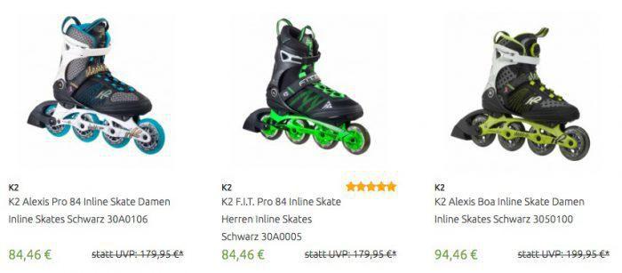 K2 Inline Skates bis zu  50%