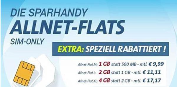 thumb.php 10 Sparhandy Allnet Flats bis zu 4GB + Telekom Netz ab 9,99€ mtl.