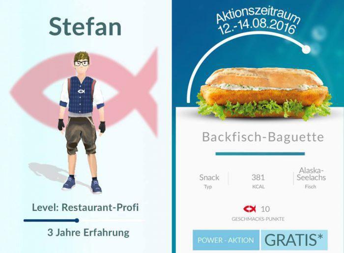 Gratis Backfisch Baguette von Nordsee für Pokemon GO Spieler