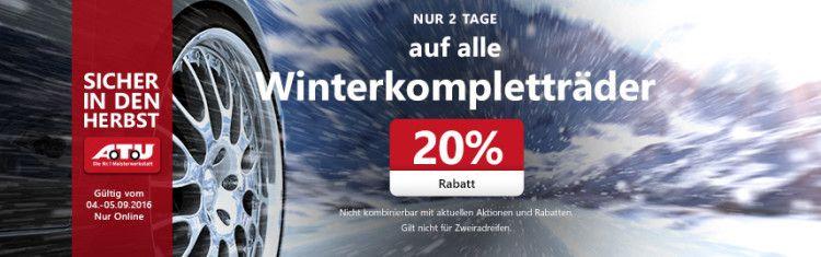 20% auf alle Winterkompletträder bei A.T.U