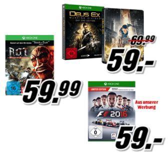 1 Spiel gratis Media Markt: 3 XBox One Games kaufen nur 2 zahlen