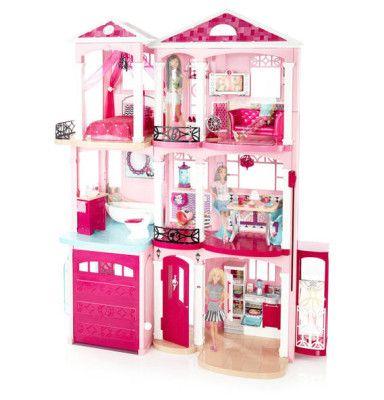 Schnell! Barbie 3 stöckige Traumvilla für 99,98€ (statt 193€)
