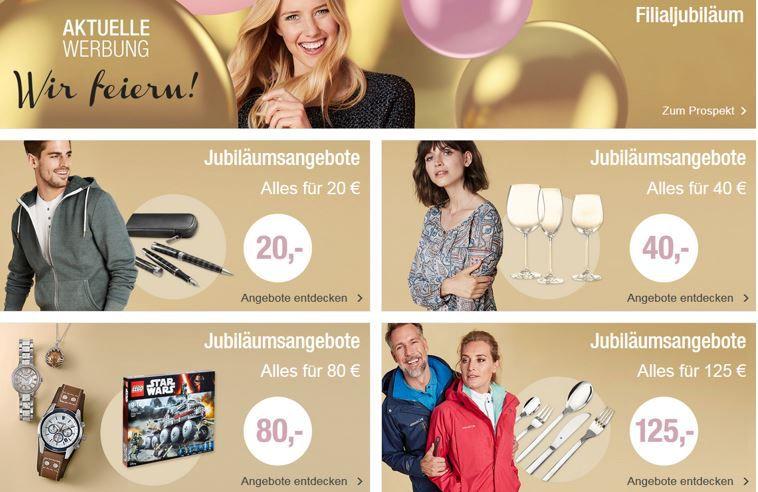 Galeria Kaufhof Jubiläums Verkauf bis Mitternacht   günstige Anzüge, Schmuck, Lego .....