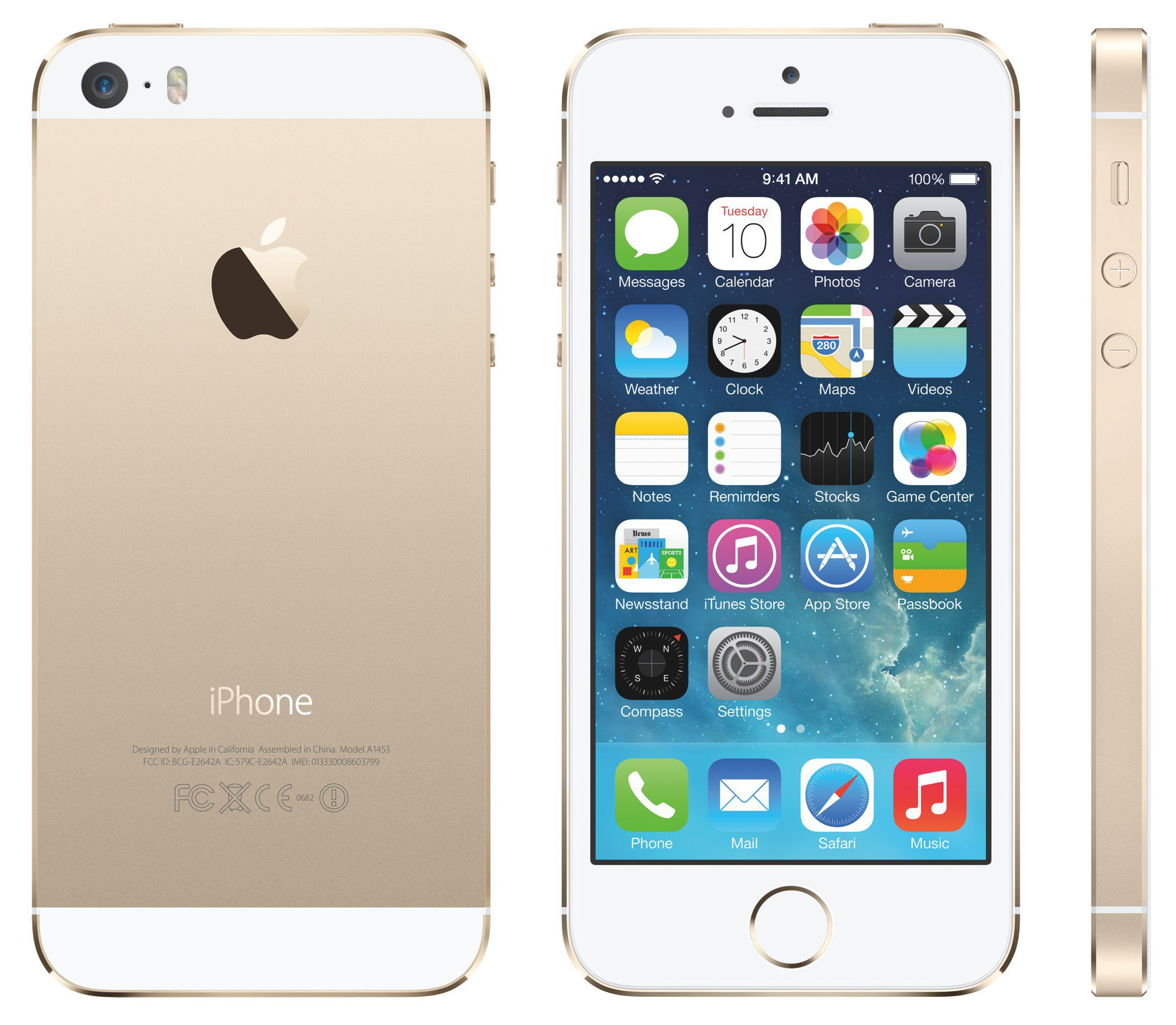 1 original Apple iPhone 5S 32GB Gold für 296,65€ (statt 376€)