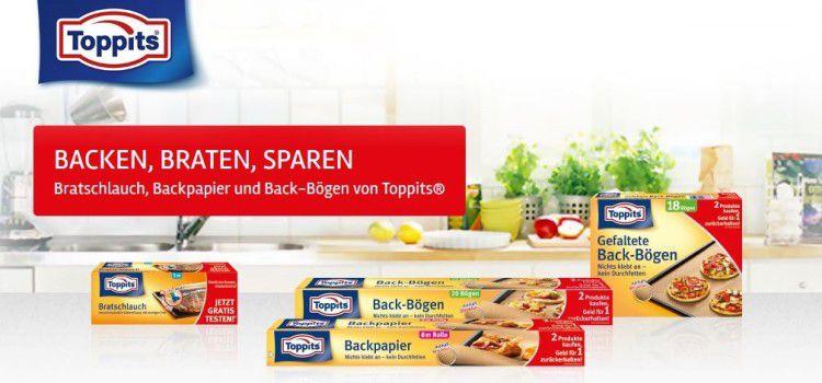 Toppits Bratschlauch, Backpapier &  Bögen gratis testen