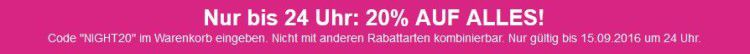 20% Rabatt auf Alles   Late Night Shopping bei Lascana
