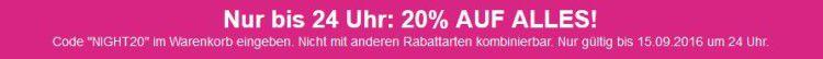20% Rabatt auf Alles   Late Night Shopping bei Lascana