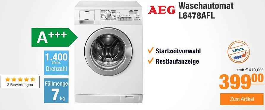 AEG L6478AFL Plus.de mit 10% Rabatt auf fast alles   z.B. AEG Waschautomat L6478AFL statt 441 für 359,10€