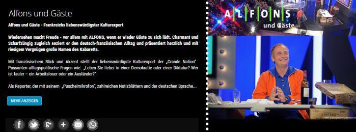 Alfons Banner Freikarten für Alfons und Gäste am 23. und 26. September
