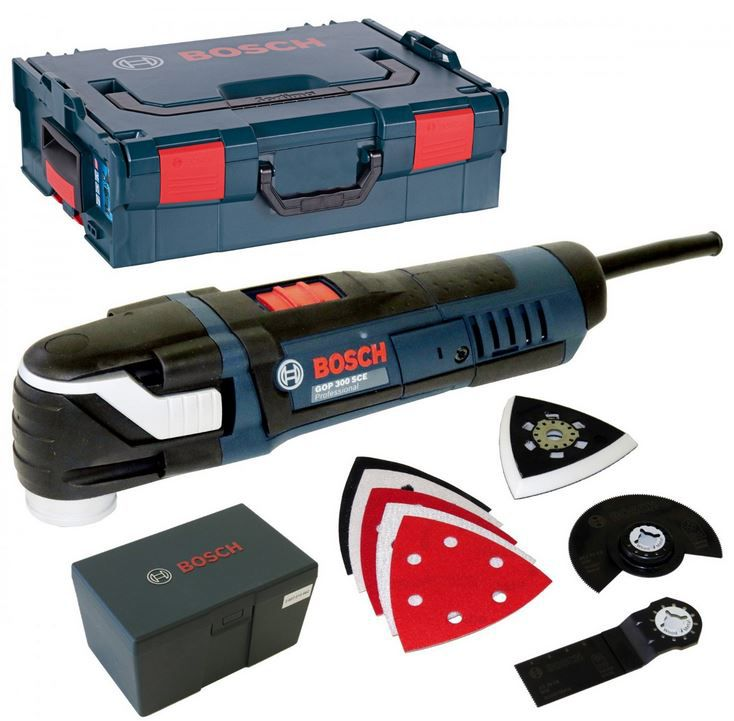 BOSCH Multicutter GOP 300 SCE Multifunktionswerkzeug + Schleifblätter für 149,99€