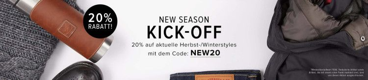 Frontline Shop: New Season Kick Off 20% Rabatt auf Herbst  & Winterstyles