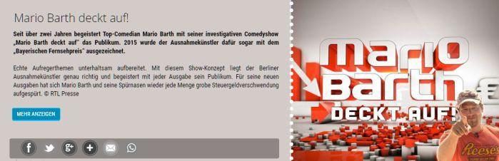Barth Freikarten für Mario Barth deckt auf! vom 11.10. bis 19.10.