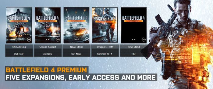 Alle Battlefield 4 DLCs (Xbox, Playstation, PC Origin) gratis