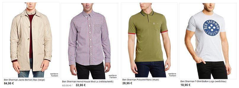 Ben Sherman Sale mit bis zu 55% Rabatt   günstige Herren Jeans, T Shirts, Jacken, Polos..