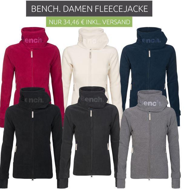 Bench Damen Fleece Jacken Schnell! Bench Heritage Funnelneck Damen Fleecejacke für 19,99€ (statt 38€)   Restgrößen!