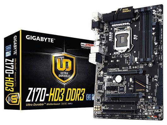 Gigabyte GA Z170 HD3 Mainboard Sockel 1151 für 69€(statt 83€)