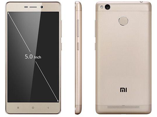 Xiaomi Redmi 3S   5 Zoll Smartphone mit 16GB golden für 111,39€