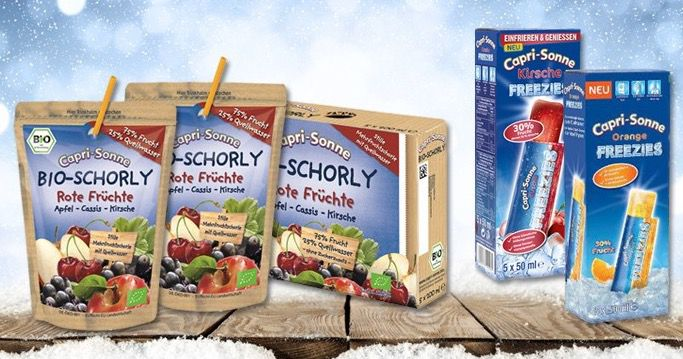 Knaller! Div. Multi Mix Set Capri Sonne Freezies und Bio Shorly für 8,94€ (statt 17€)