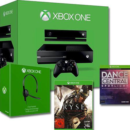 Xbox One 500GB + Kinect + Ryse + Dance Central + Headset für 169,92€ (statt 320€)