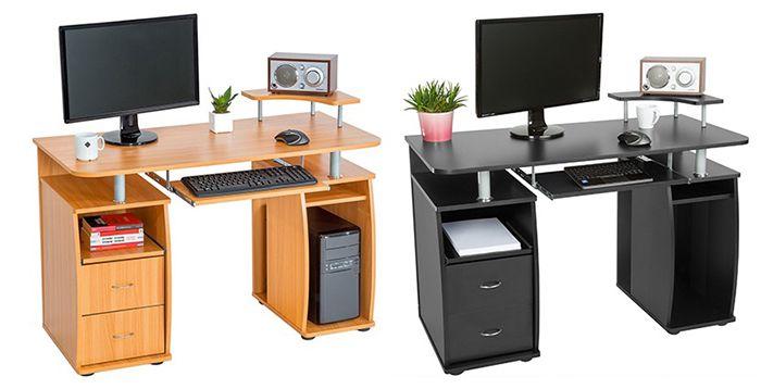 TecTake Computertisch mit 2 Schubladen für 69,99€ (statt 84€)