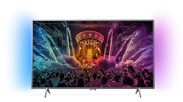 Philips 55PUS6401   55 Zoll 4K Android Fernseher + 2 seitigem Ambilight für 599€ (statt 771€)