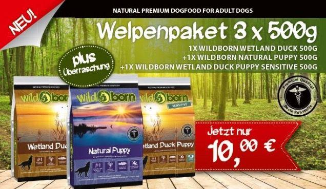 3kg Wildborn Hunde Trockenfutter für 10€ + ggf. Versandkosten