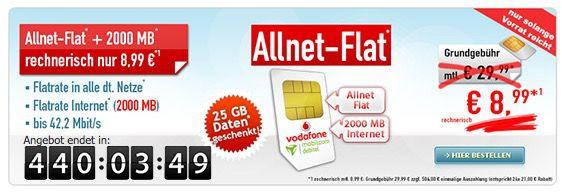 Bildschirmfoto 2016 09 12 um 15.56.07 Vodafone Allnet Flat + 2GB für 8,99€ mtl. + 25GB für 2 Monate gratis!