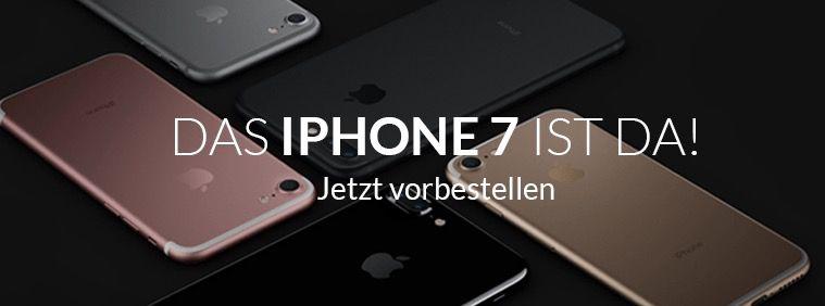iPhone 7 ohne Zuzahlung + Vodafone Smart L mit 2GB LTE für 44,99€ mtl.
