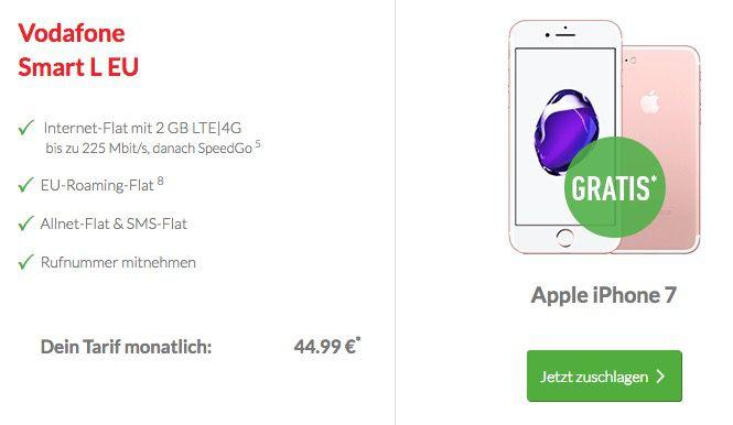 Bildschirmfoto 2016 09 13 um 10.04.14 iPhone 7 ohne Zuzahlung + Vodafone Smart L mit 2GB LTE für 44,99€ mtl.